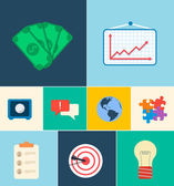 Business  icons concept. — Stockvector