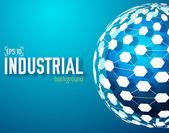 Industrial network sphere — Stock Vector