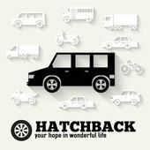 Hatchback car — Stock Vector
