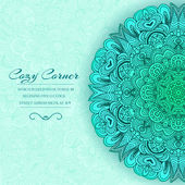 Hand drawn ornamental background — Vetorial Stock