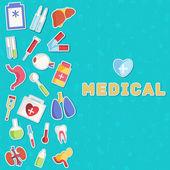 Medical equipment background — Stock Vector