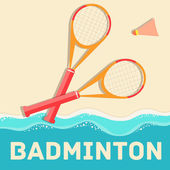 Badminton icon concept. — Stock Vector