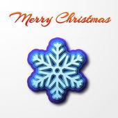 Weihnachtskarte mit schneeflocke — Stockvektor