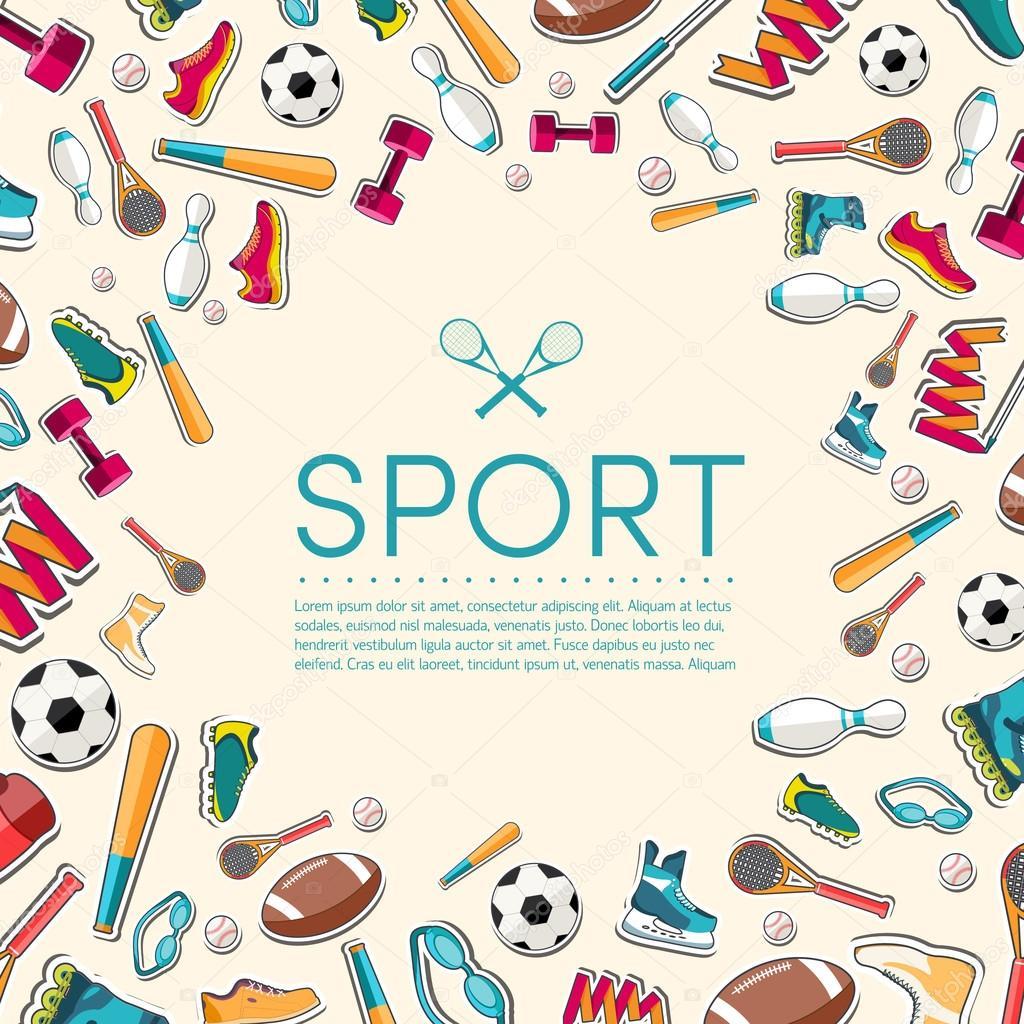 Фон спортивного инвентаря