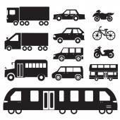 Flat cars concept set icon pictogram illustration design — Stockvektor