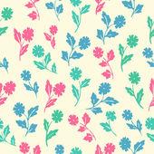Stylish beautiful  flower set simless patter — Stock Vector