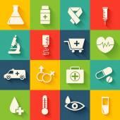 Retro set of medical equpment backgrounds — Stock Vector