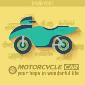 Flat bike background illustration concept — Stock Vector