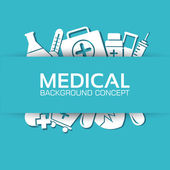 Flat medical equipment set icons background — Stock Vector