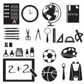 Icons set of back to school concept pictogram — Stock Vector