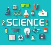 Retro experiments in a science chemistry laboratory icon — Stock Vector