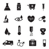 Flat medical equipment set icons concept — Stock Vector