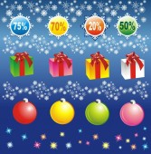Christmas elements for sale — Stock Vector