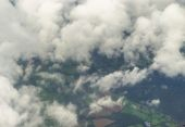 England seen from above the clouds — Stock Photo