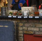Typical spices exposed in Camden Town — Stock Photo