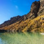 Mountain lake in Aosta Valley 2 — Stock Photo #57494129
