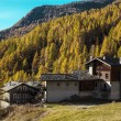 Mountain cottages in Aosta Valley — Stock Photo #57500661