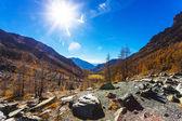 Autumn landscape in Aosta Valley 19 — Stock Photo