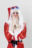 Shocked Santa Claus — Stock Photo