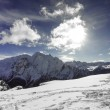 Beautiful winter mountain landscape in Trentino and clouds — Stock Photo #60176687