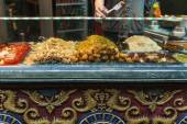 Traditional chinese food exposed in Camden Town — Stock Photo