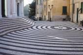 Piazza della Concordia in Albissola Marina, Liguria — Stock Photo