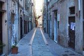 Street in Albissola Marina, Liguria — Stock Photo