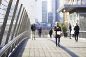 Blurred city life in Milan — Stock Photo