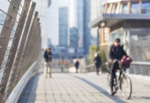 Blurred city life — Stock Photo