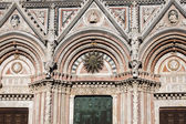 Siena Cathedral details in Tuscany, Italy — Stock Photo