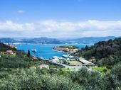 Beautiful spring landscape in Liguria, Italy — Stock Photo