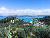 Beautiful spring seascape and village in Liguria, Italy — Stock Photo