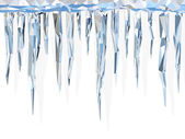 Low poly icicles — Stock Photo