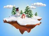 クリスマス雪だるま — ストック写真