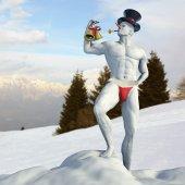 сексуальный снеговик — Стоковое фото
