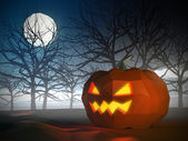 Low poly Halloween scene — Foto Stock