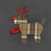 Denim Christmas reindeer — Stockfoto
