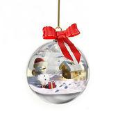 Snowglobe com boneco de neve — Foto Stock