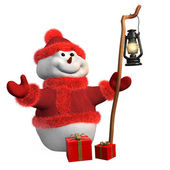 Snowman at Christmas — Stock Photo