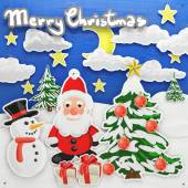 Oil painted Christmas collage — Stock Photo