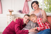 Pregnant woman expecting her baby — Stock Photo