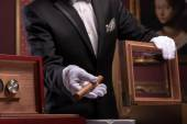 Handsome man with cigar — Stock Photo