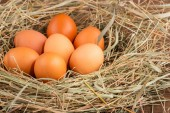 Eggs the delicious and nutritious product — Stock Photo