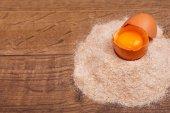 鸡蛋的美味和营养的产品 — 图库照片