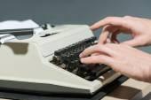 Working at the typewriter close up — Stockfoto