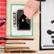 Traditional Japanese or Chinese calligraphy — Stockfoto #62389465