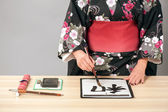 Hieroglyph of Traditional Japanese or Chinese calligraphy — Stock Photo