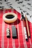 Calligraphy tools on the table — Stock Photo