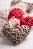 Closeup image of decorative hearts — Stock Photo
