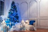 Christmas tree interior studio shot — Foto de Stock